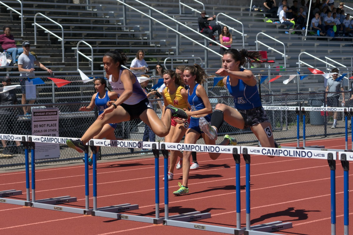 Track & Field: New School Record in the 100m Hurdles